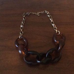 Loft tortoise shell statement necklace